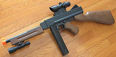 fa65e13c8ce93 Airsoft Spring Rifle Tomy Gun Shoot 340 FPS w ACOG Red Dot Scope