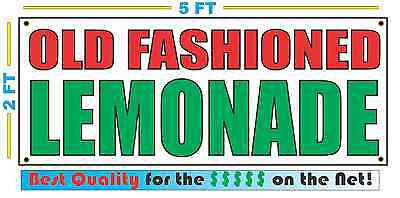 OLD FASHIONED LEMONADE Banner Sign NEW Size Best Quality for The $$ Fair Food