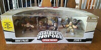 Star Wars Galactic Heros Action Figures Jabba's Palace Episode VI