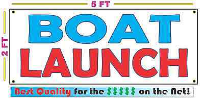 Boat Launch All Weather Banner Sign New High Quality Xxl Lake Dock Ramp