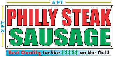 PHILLY STEAK SAUSAGE Banner Sign NEW Larger Size Best Quality 4 The $$$