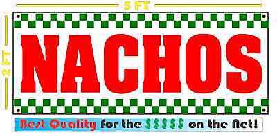 Nachos Banner Sign New Shop Delivery Restaurant Stand Or Cart Convenience Store