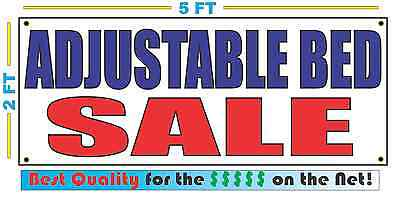 ADJUSTABLE BED SALE Banner Sign NEW Larger Size Best Quality for the