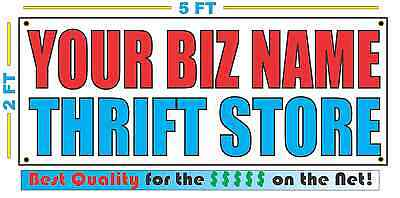 CUSTOM NAME THRIFT STORE Banner Sign NEW Larger Size Best Quality for the (Best Storage For Vinyl)