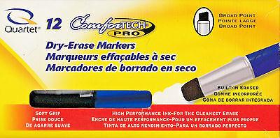 Quartet Comfortech Pro Dry-erase Markers Blue Set Of 12 Markers