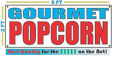 Gourmet Popcorn Banner Sign New Larger Size Best Quality For The