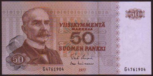 FINLAND  50 Markkaa  1977  UNC