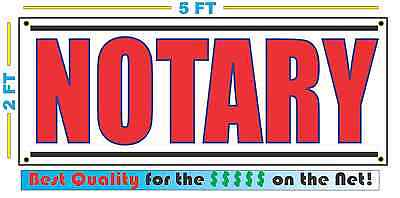 Notary Banner Sign New Larger Size Best Price For The Public Services