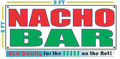 Nacho Bar (NACHO BAR Banner Sign NEW Larger Size Best Quality for the)