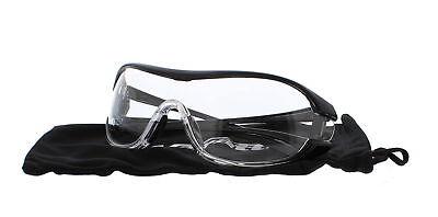 Encon Wraparound Veratti V6 Safety Glasses, Clear Lens, Black Frame (Pack of 1)