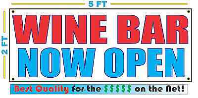 Wine Bar Now Open Banner Sign New Larger Size