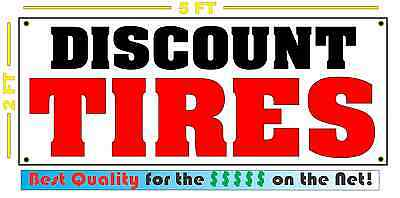 - DISCOUNT TIRES Banner Sign NEW 4 Car Truck SUV Van Repair Tire Shop rims wheels