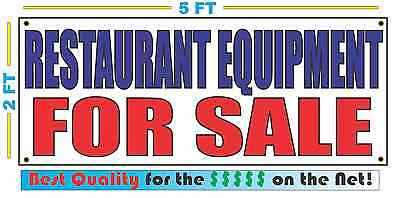 Restaurant Equipment For Sale Banner Sign New Larger Size Best Quality For The
