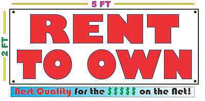 RENT TO OWN Full Color Banner Sign NEW XXL Larger Size Best Price on the