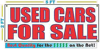 Used Cars For Sale Banner Sign New Larger Size Best Price For The