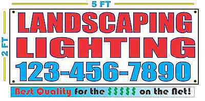 LANDSCAPE LIGHTING w CUSTOM PHONE Banner Sign NEW Size Best Quality for the $