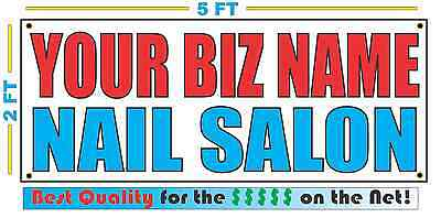 Custom Name Nail Salon Banner Sign New Larger Size