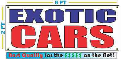 EXOTIC CARS Banner Sign NEW Larger Size Best Price for The $$$ on the
