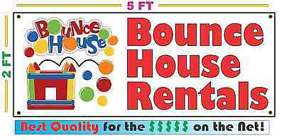 BOUNCE HOUSE RENTALS Banner Sign NEW Larger Size Best Quality for the