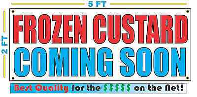 Frozen Custard Coming Soon Banner Sign New Larger Size Best Quality For The