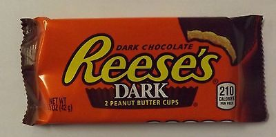 Reeses Dark Peanut Butter Cup Chocolate Candy Bar 24 Count (Chocolate Peanut Candy Bar)