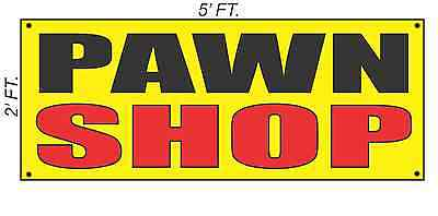 Pawn Shop Banner Sign Yellow With Red Black