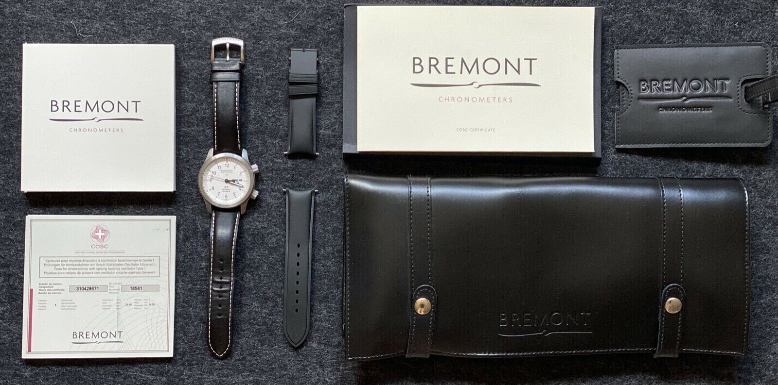 Bremont MBII (Martin Baker 2) Luxury Watch, White   Orange with Papers - watch picture 1