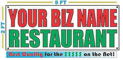 Custom Name Restaurant Banner Sign New Larger Size Best Quality For The