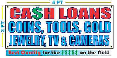 Cash Loans W List Full Color Banner Sign New Xxl Size Best Quality For The