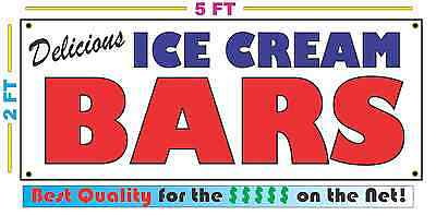 Full Color ICE CREAM BARS BANNER Sign NEW Larger Size Best Quality for the $