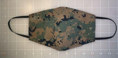 US Army, USN, USMC, USAF Face Mask Washable & Reusable W/Tissue Pocket New