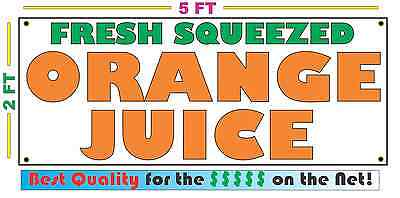 FRESH SQUEEZED ORANGE JUICE Banner Sign NEW Larger Size Best Price on the Net!