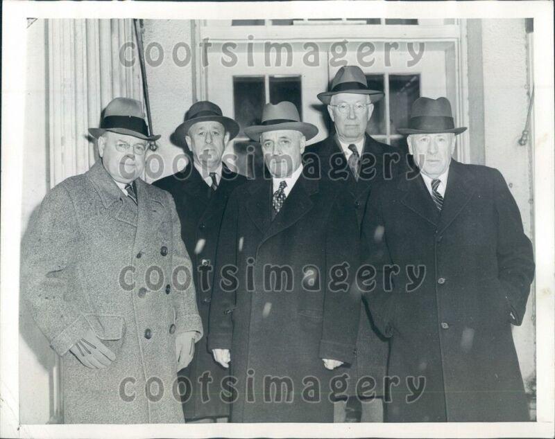 1945 Roosevelt Advisers Senators W Austin E Thomas Rep A J May Press Photo