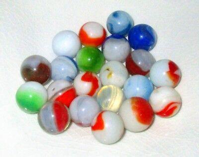 21  Antique Marbles Lot P