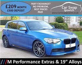 BMW 1 SERIES 118D M SPORT (blue) 2012