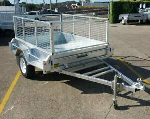 Galvanised Tipper Box Trailers For Sale 8x6 8x5 7x5 7x4 6x4 with Cage North Ipswich Ipswich City Preview