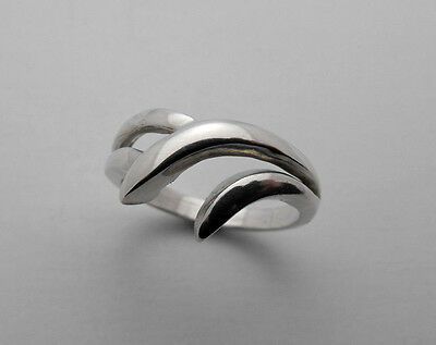 - Handmade Custom Free Form Sterling Silver 925 Ring Band Setting Size 6-3/4