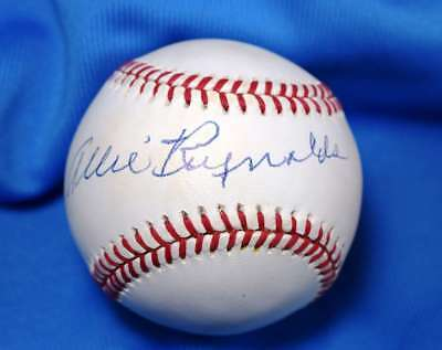 Allie Reynolds Signed Psa Dna American League Oal Baseball Authentic Autograph