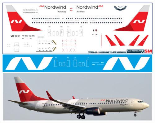 1/144 PAS-DECALS  ZVEZDA  Revell  BOEING 737-800 NordWind