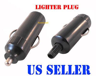 (Qty-2) 12v Male Car Cigarette Lighter Socket Plug Connector NEW