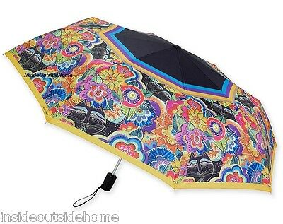 Laurel Burch Carlotta's Cats COMPACT Umbrella Auto Open Close Large Canopy NEW