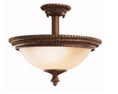 (Kichler Lighting Larissa Semi Flush Fluorescent in Tannery Bronze w/ Gold Accent)