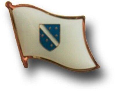 Wholesale Pack of 50 Bosnia Herzegovina WHT Country Flag Bike Hat Cap lapel Pin