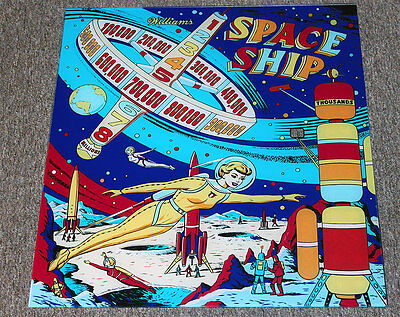 Williams 1961 SPACE SHIP Pinball Machine Replacement BACKGLASS - OUTER SPACE