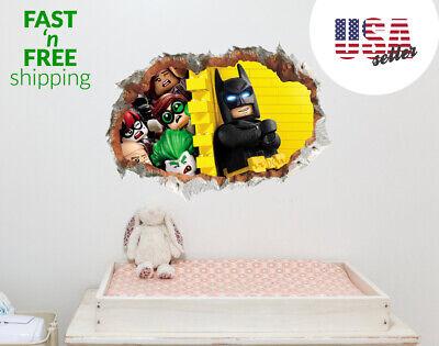 Large Lego Batman Wall Sticker Removable Decal Kids Nursery Decor USA FAST SHIP](Lego Batman Decorations)