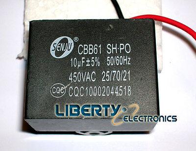 10uf 450v Cbb61 Motor Start Run Fan Capacitor 2 Wire