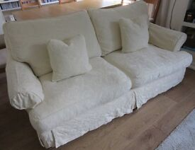 SOFA Comfortable, from John Lewis, 2nd set of washable covers, cream and white, 2 matching cushions