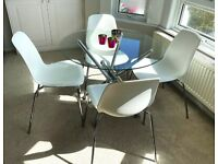 Modern Dinning Table & Four Chairs