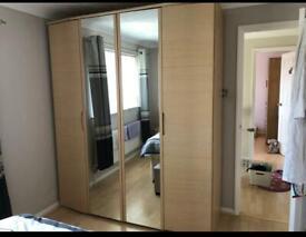 AHF - Maple bedroom furniture - wardrobe, chest of draws & headboard