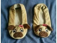 Ladies dog flat footwear slippers feet